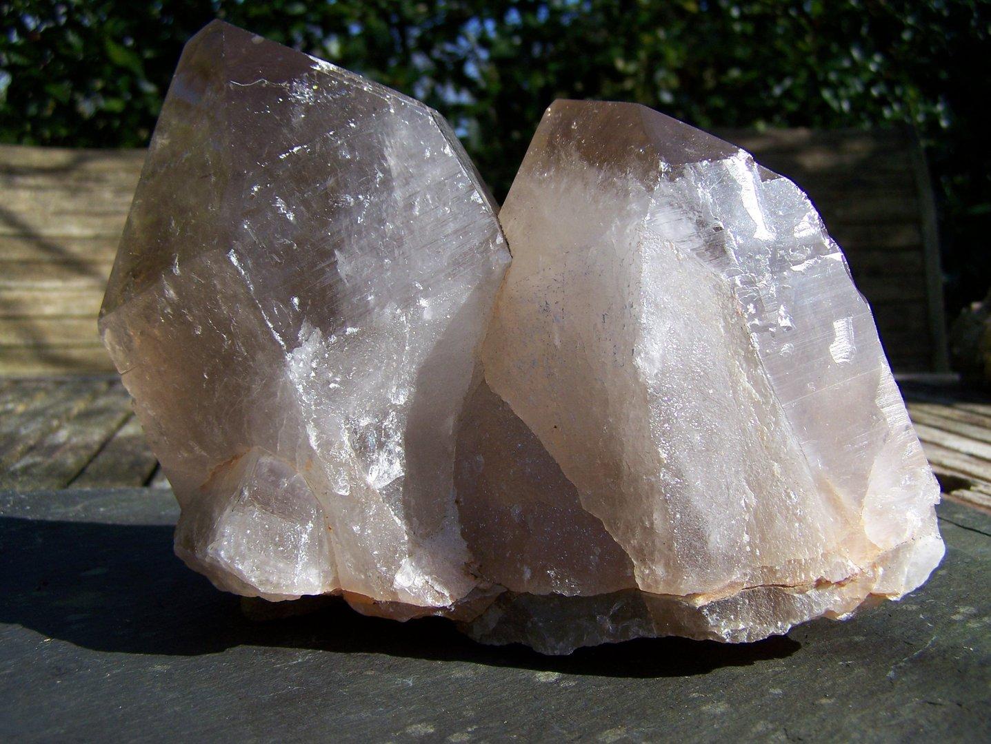 Rookkwarts tweelingkristal
